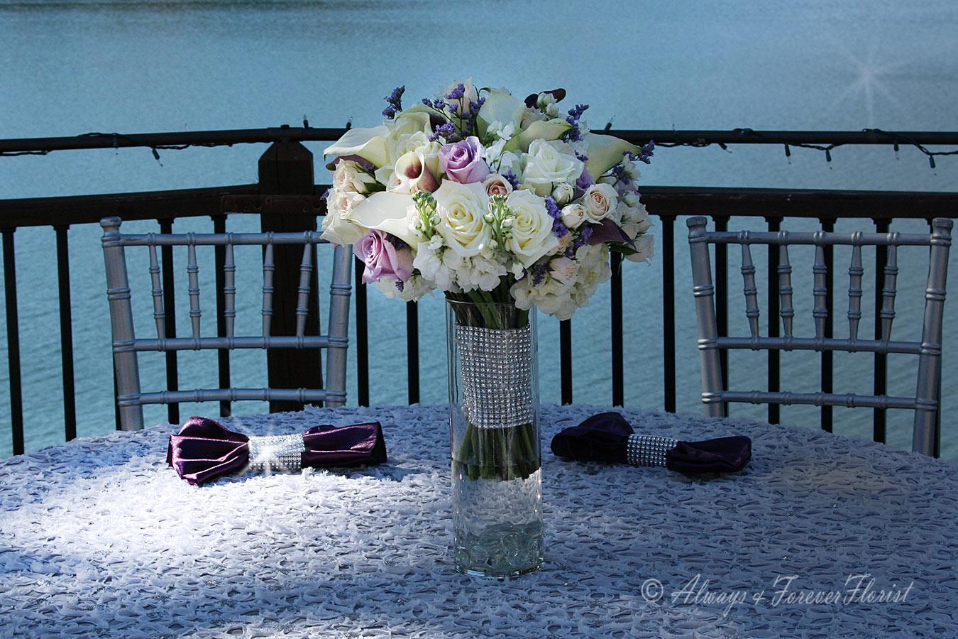 A Plum Wedding On The Lake Always Forever Florist