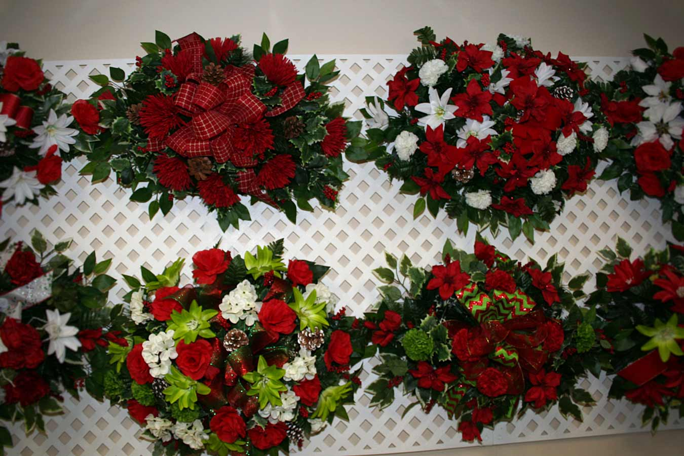 Silk christmas monument topper arrangements always forever florist silk christmas monument topper arrangements mightylinksfo