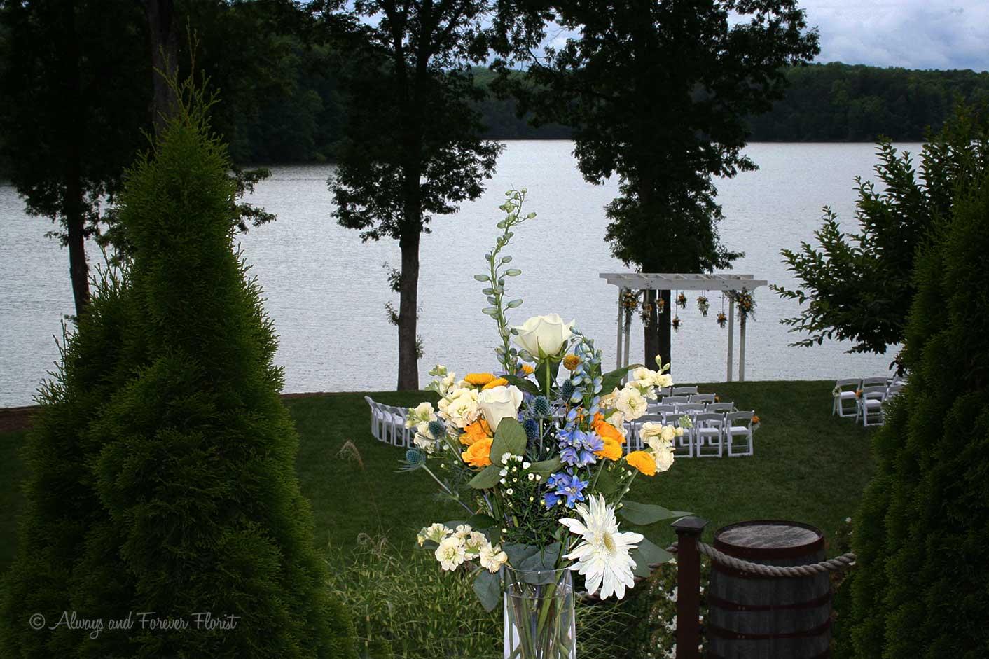Bella Collina Lakeside Wedding