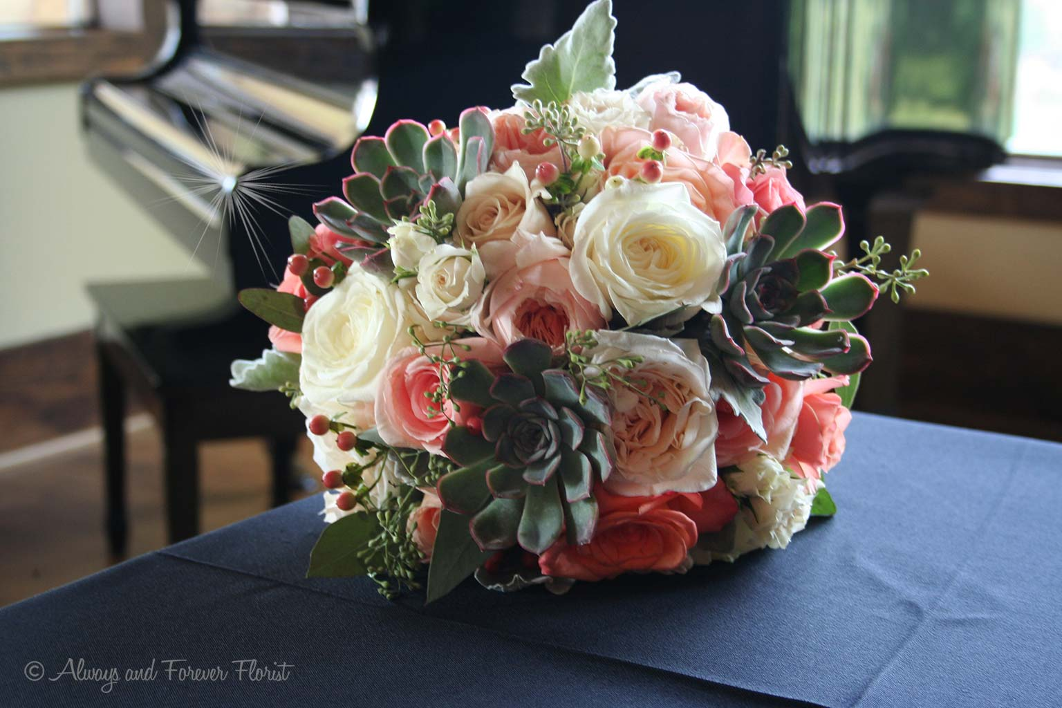 Gorgeous Bridal Bouquet On Display