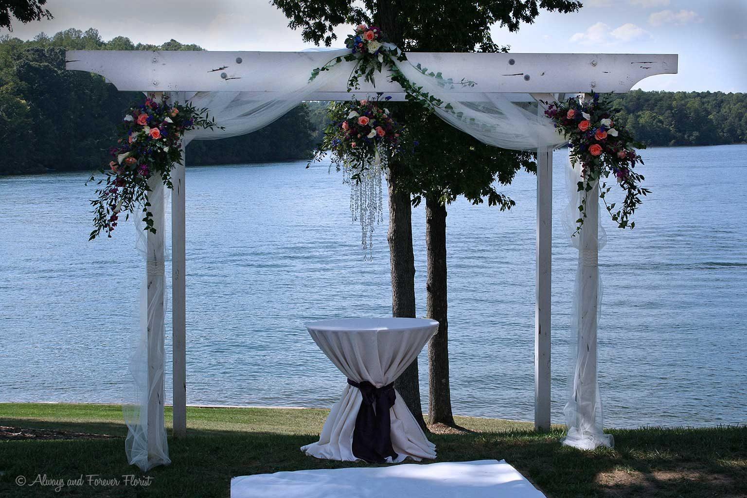 Wedding Arch Floral Chandelier Arrangement