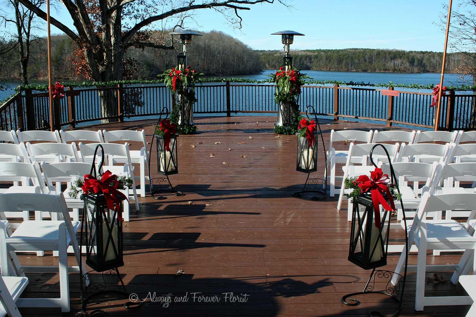 Christmas Wedding On The Bella Collina Deck