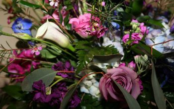 Gorgeous arrangement at the starmount cc wedding reception