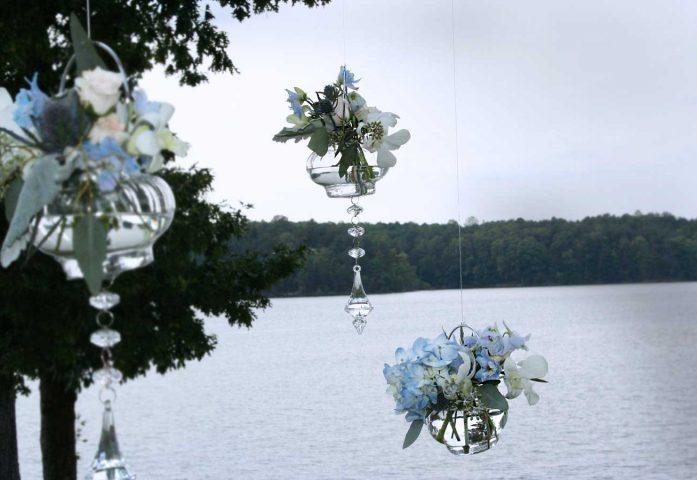 Hanging crystal orbs
